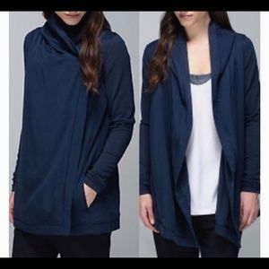 Lululemon Blissed Out Wrap Inkwell Navy size 4